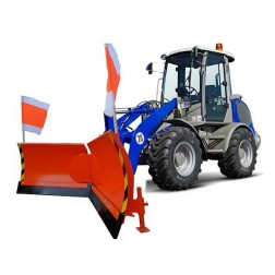 Vario Schneeschild Euroaufnahme von 125 cm bis zu 225 cm hydraulisch schwenkbar Schneeschieber Winterdienst