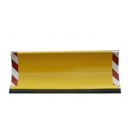 Universal-Räumschild für Einachser oder Rasentraktor mit Reflektoren größe ab 100 bis 200 cm