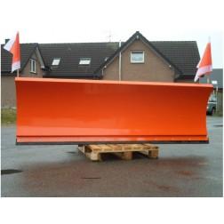 Schneeschild hydraulisch mit Euroaufnahme für Radlader Frontlader Bagger Schnellwechsler Größe 200 bis 250 cm