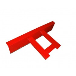 Universal-Räumschild für Gabelstapler und Radlader Größe 100 bis 200 cm